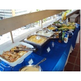 buffet para almoço de confraternização
