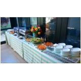 buffet de almoço para evento empresarial preço Jardim Floriano
