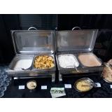 buffet de almoço para evento empresarial valor Horto Santo Antonio