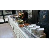 buffet de almoço para evento empresarial Parque União