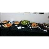 buffet de almoço para treinamento corporativo preço Bairro do Poste