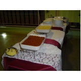 buffet de brunch para casamento Jardim São Gonçalo
