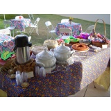 buffet de coffee break junina barato Portal do Sol