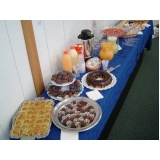 buffet de coffee break para evento em sp Res.Vida Nova