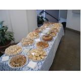 buffet de coffee break para evento preço Retiro