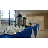 buffet de coffee break para palestra Cidade Santos Dumont
