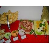 buffet para coquetel empresarial Champirra