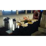 buffet de almoço para colaboradores
