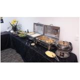 buffet de almoço para reunião