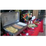 buffet de almoço para treinamento empresarial