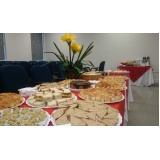 buffets de coffee break corporativos Almeirinda Chaves