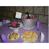 buffets de coquetel para casamentos Chácara Planalto