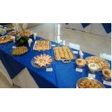buffets de coquetel para eventos Recanto Florido
