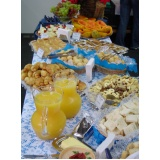 buffets especializados em coffee break Vale Azul
