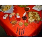 buffets para coquetéis empresariais Serra das Cabras