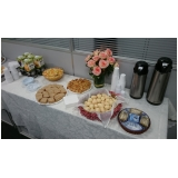 café da manhã para 50 pessoas valor Chácara Paraíso