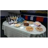 café da manhã para eventos preço Jardim Adélia