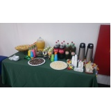 contratar buffet de coffee break para empresas Riqueza