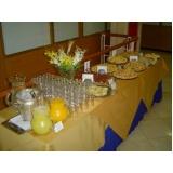 contratar café da manhã para convenções Jardim Cica
