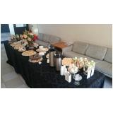 evento empresarial buffet executivo preço Núcleo Residencial Vila Francisca