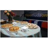 evento empresarial buffet preço Condomínio Vista Alegre