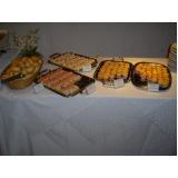 buffet para evento empresarial