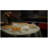 onde encontrar buffet para evento empresarial Vila Progresso