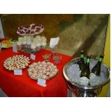orçamento de buffet para coquetel empresarial Chácaras Cruzeiro do Sul