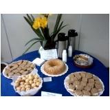 preço de buffet de café da manhã em empresa Vila Marlene