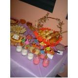 preço de buffet de coquetel para evento Chácara Recreio Santa Camila